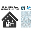 Office Room Icon with 1000 Medical Business vector image