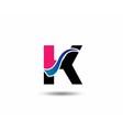 Logo K Letter company design template vector image
