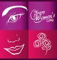 happy womens day brochure vector image