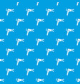 hairdryer pattern seamless blue vector image