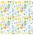 Cleaning icon seamless pattern vector image