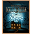 Retro Halloween background party invitation vector image