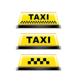 taxi sign isolated vector image vector image
