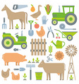 Farm pattern vector image