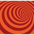 Orange Spiral Striped Abstract Tunnel Background vector image