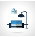 Room interior flat icon vector image