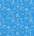 Christmas Seamless doodle background Blue vector image