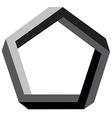3d pentagon vector image vector image