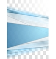 Blue tech stripes blurred corporate transparent vector image vector image