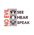 wise monkeys vector image