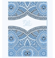 blue colour ornament on floral background with vector image