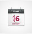 boss day calendar background vector image