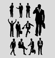 Businessman silhouettes vector image