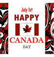 canada flag the national day of canada vector image
