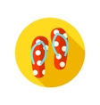 Flip Flops flat icon with long shadow vector image