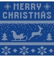 Merry Christmas Scandinavian style seamless vector image