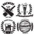 set of brewery logos labels badge templates with vector image