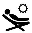 Summer Relax Sunbathing Pictograms Flat People vector image