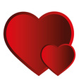 Two hearts isolated object vector image