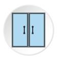 Double door icon flat style vector image vector image