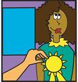 Woman recieving award vector image vector image