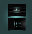 modern business card design vector image vector image
