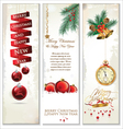 Merry Christmas banner set vector image vector image