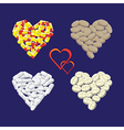 Hearts from pills vector image vector image