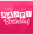 Pink Birthday Greeting Card vector image
