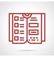 Reference book red line icon vector image