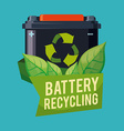 Recycle battery design vector image