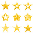 gold stars vector image vector image
