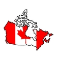 Map in colors of Canada vector image vector image