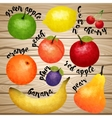 Aqurel Fruit Collection vector image