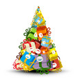 Christmas Tree Made from Gift Boxes - vector image