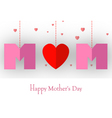happy mothers day card for your design vector image