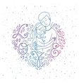 Lovers inside frame heart vector image