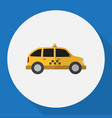 of vehicle symbol on taxi flat vector image