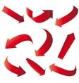 red arrows vector image