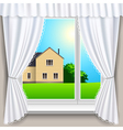 spring window house vector image