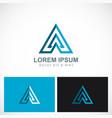 triangle arrow pyramid business logo vector image