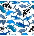 Fish cartoon seamless pattern wallpaper vector image vector image