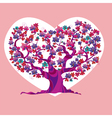 concept pink love tree vector image vector image