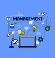 management graphic for business concept vector image