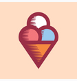 Ice Cream Icon Vintage vector image