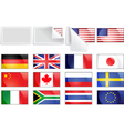 international transfer flags vector image