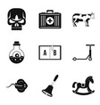 academic year icons set simple style vector image
