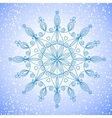 Beautiful large snowflake vector image