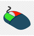 computer mouse isometric icon vector image