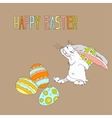 for Easter with a picture of a rabbit vector image